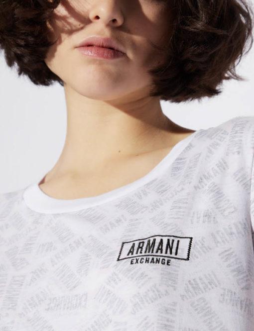 maglietta logo Armani Exchange all over da donna-2