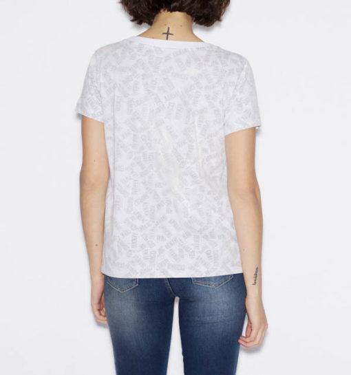 maglietta logo Armani Exchange all over da donna-4