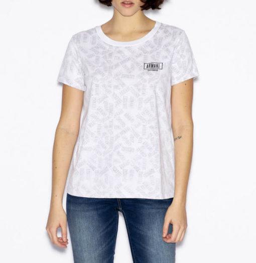 maglietta logo Armani Exchange all over da donna-1