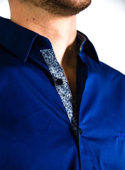 GUESS camicia uomo tinta unita regular fit-4