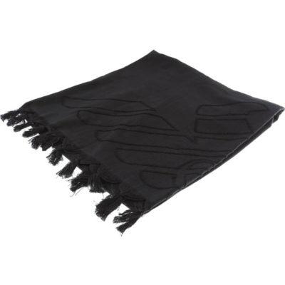 Emporio Armani Telo mare nero con aquila in tinta