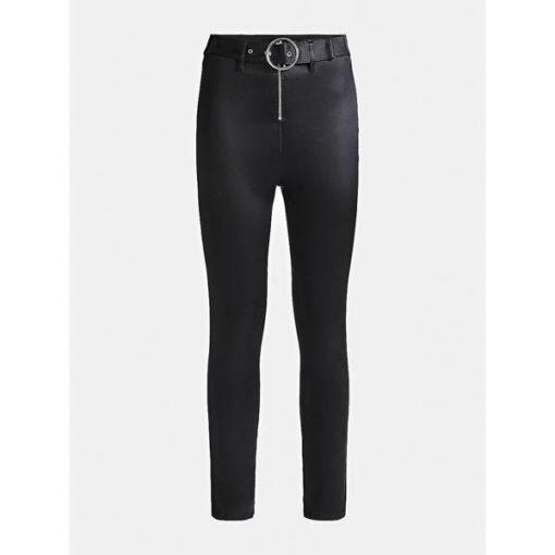 Pantalone Guess da donna con cintura spalmato super skinny-4