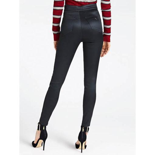 Pantalone Guess da donna con cintura spalmato super skinny-1