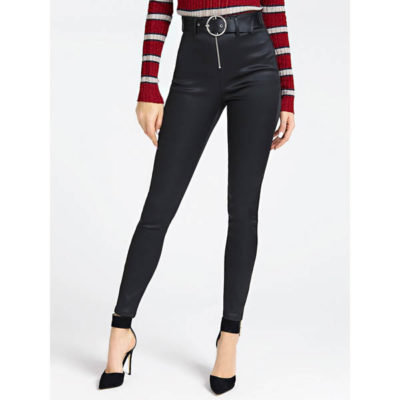 Pantalone Guess da donna con cintura spalmato super skinny
