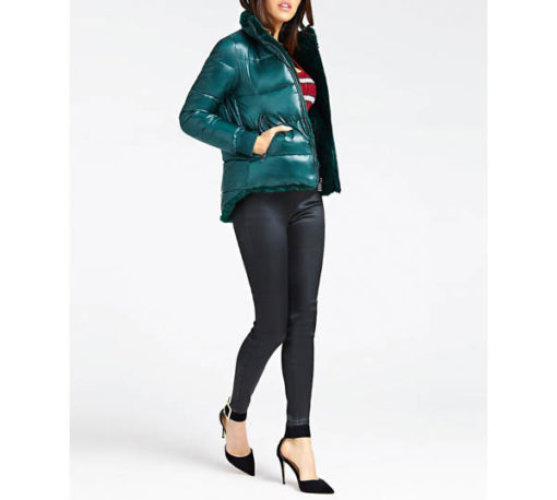 Pantalone Guess da donna con cintura spalmato super skinny-3