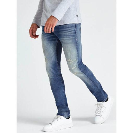 GUESS jeans strappato uomo modello slim