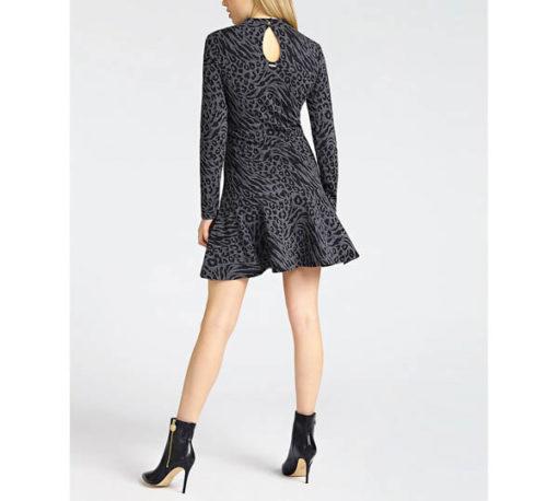 vestito donna GUESS grigio corto manica lunga-1