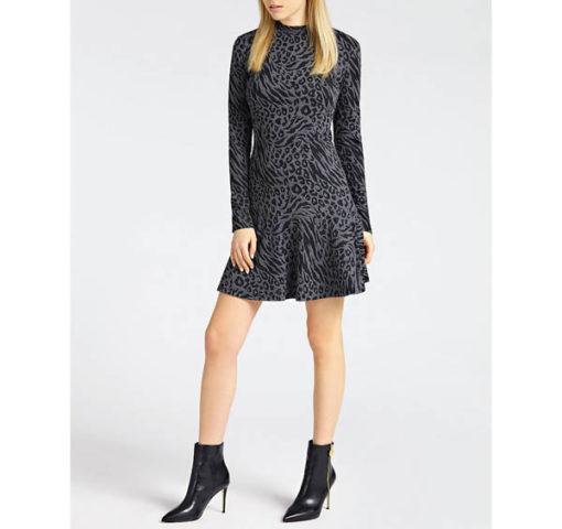 vestito donna GUESS grigio corto manica lunga
