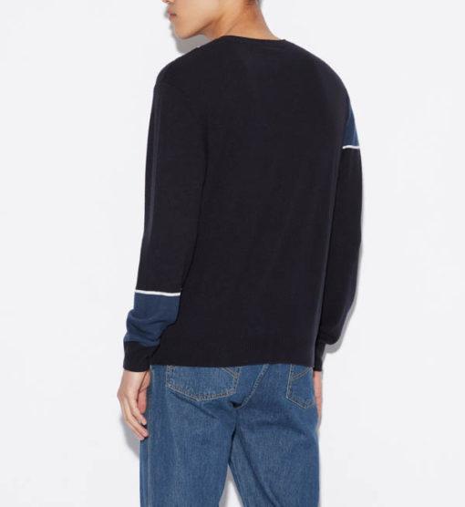 maglia grigia e nera ARMANI EXCHANGE girocollo da uomo-7