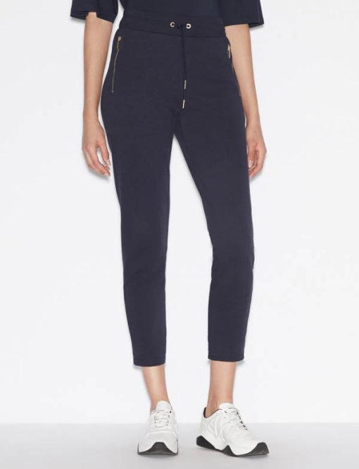 pantalone donna Armani Exchange sportivo con zip-1