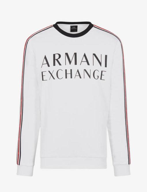 Felpa logo Armani Exchange da uomo girocollo -6