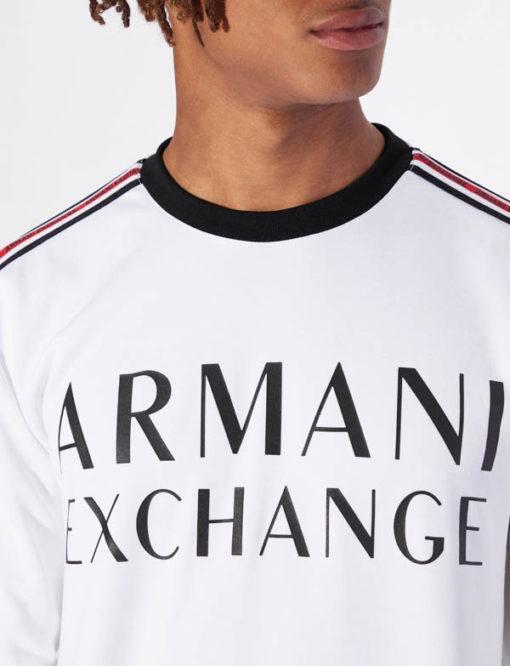 Felpa logo Armani Exchange da uomo girocollo -2