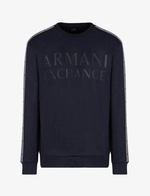 Felpa logo Armani Exchange da uomo girocollo -7