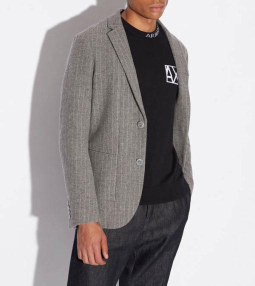 ARMANI EXCHANGE maglia girocollo con piccola scritta da uomo-6