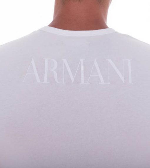Emporio Armani t-shirt con scritta in tessuto stretch-4