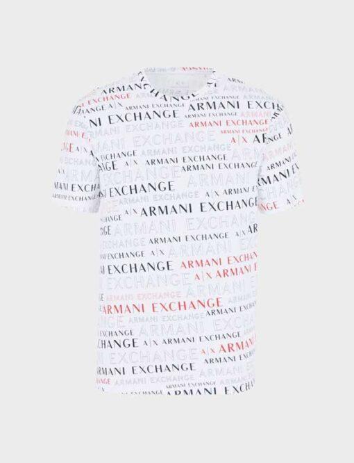 ARMANI EXCHANGE maglietta uomo cono scritte logo all over-8