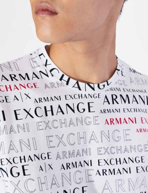ARMANI EXCHANGE maglietta uomo cono scritte logo all over-7