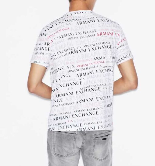 ARMANI EXCHANGE maglietta uomo cono scritte logo all over-9
