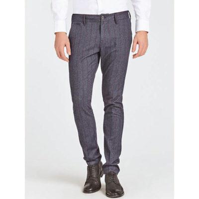 Pantalone uomo Guess grigio spigato a righe
