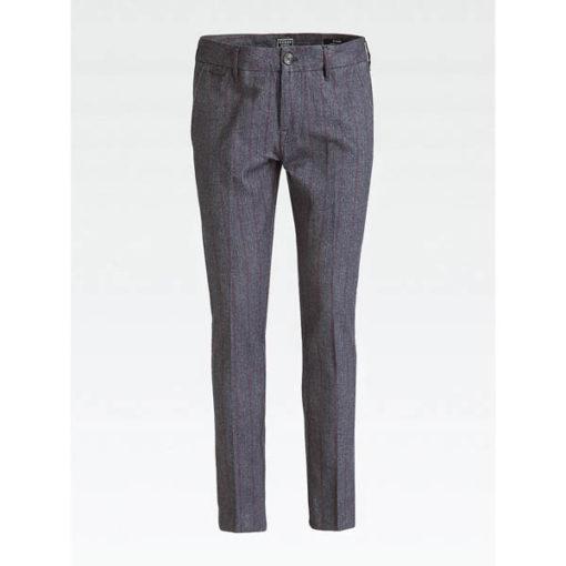 Pantalone uomo Guess grigio spigato a righe -1