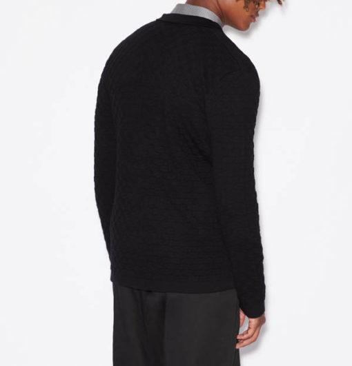 Giacca in maglia Armani Exchange da uomo-4