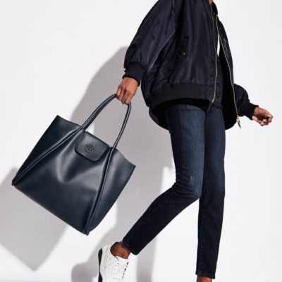 SHOPPER GRANDE ARMANI EXCHANGE DA DONNA DOPPI MANICI