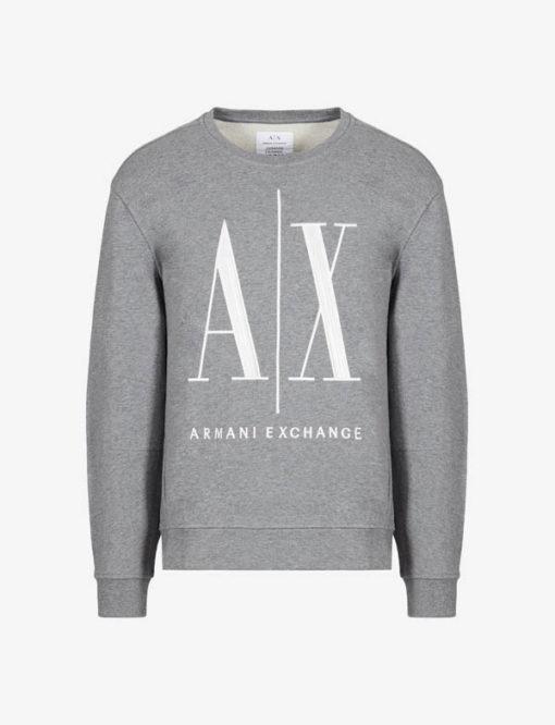 Felpa uomo Armani Exchange logo A|X girocollo-5