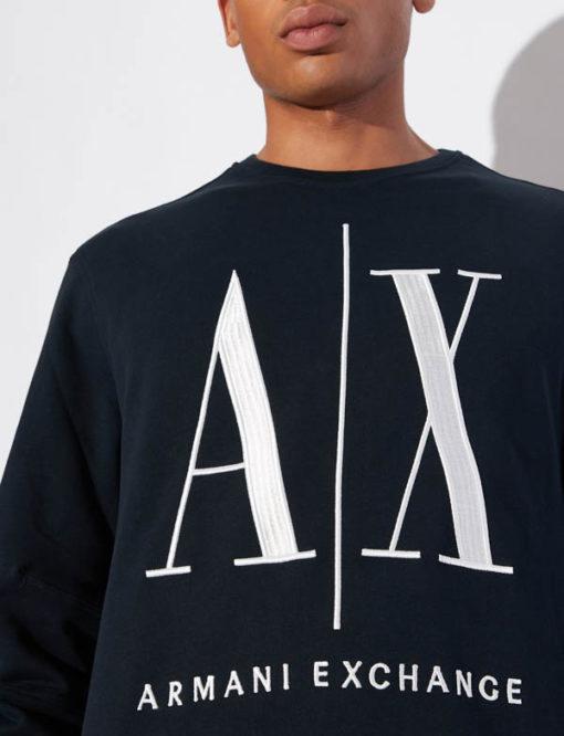 Felpa uomo Armani Exchange logo A|X girocollo-2
