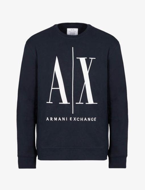 Felpa uomo Armani Exchange logo A|X girocollo-4