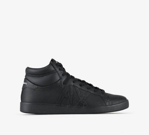 ARMANI EXCHANGE sneakers alta in pelle nera da uomo-1