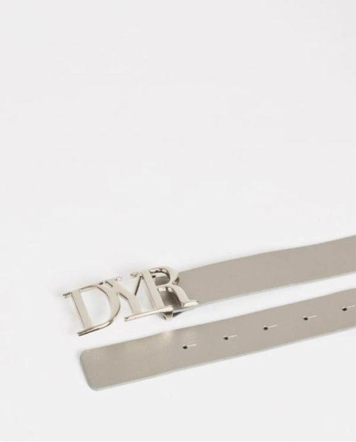Cintura con fibbia logo Denny Rose grigia-1