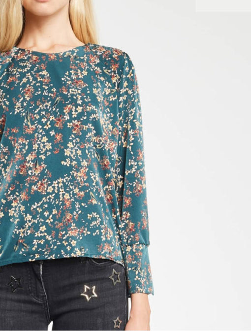 DENNY ROSE blusa in fantasia floreale-2
