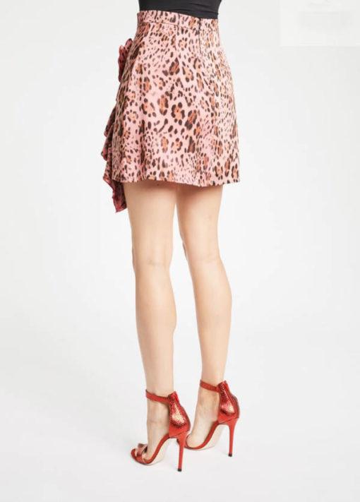 DENNY ROSE mini gonna animalier rosa -2