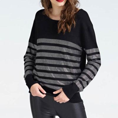 GUESS maglia nera con strass da donna