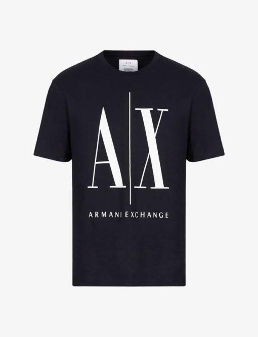 ARMANI EXCHANGE maglietta da uomo blu logo A|X-2