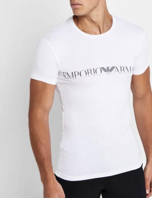 Emporio Armani t-shirt elasticizzata con scritta logo
