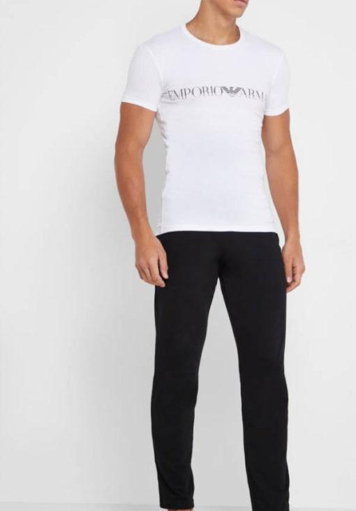 Emporio Armani t-shirt elasticizzata con scritta logo-4