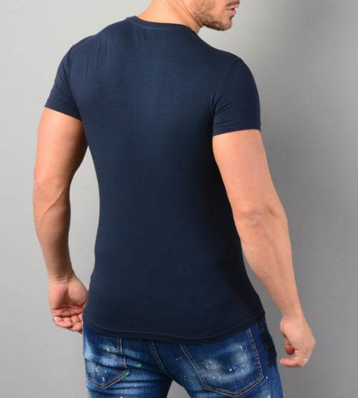 Emporio Armani t-shirt elasticizzata con scritta logo-5