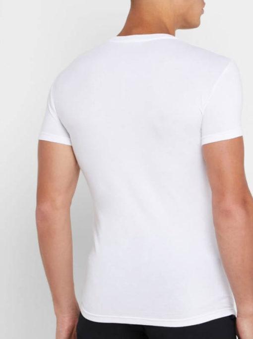 Emporio Armani t-shirt elasticizzata con scritta logo-6