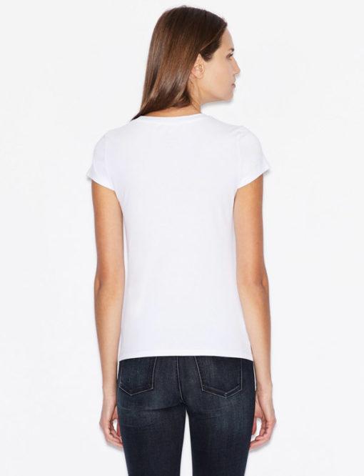 Maglietta elasticizzata donna Armani Exchange con applicazioni-8