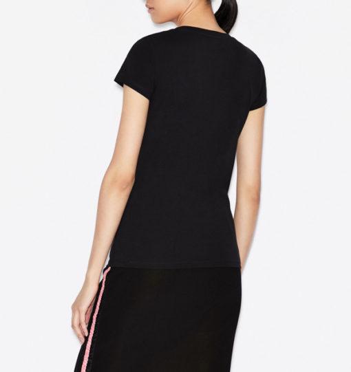 Maglietta elasticizzata donna Armani Exchange con applicazioni-9