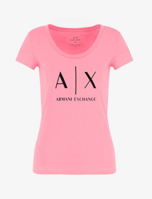t-shirt Armani Exchange logo AX donna-8