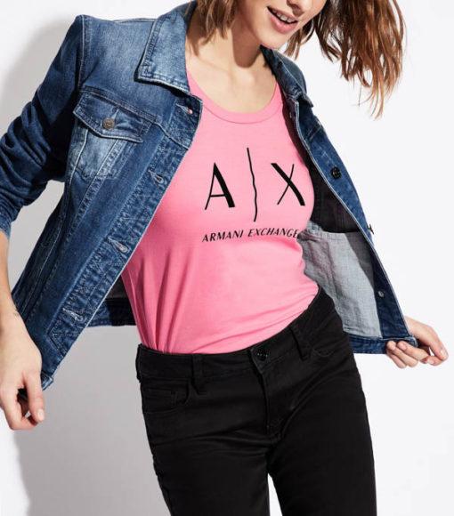 t-shirt Armani Exchange logo AX donna-11
