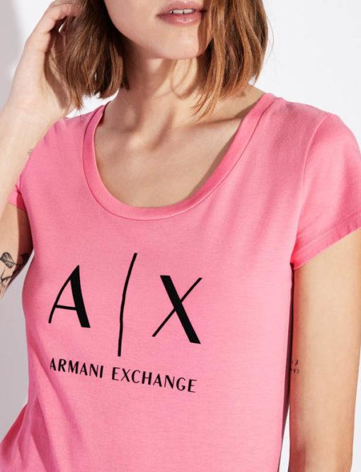t-shirt Armani Exchange logo AX donna-4