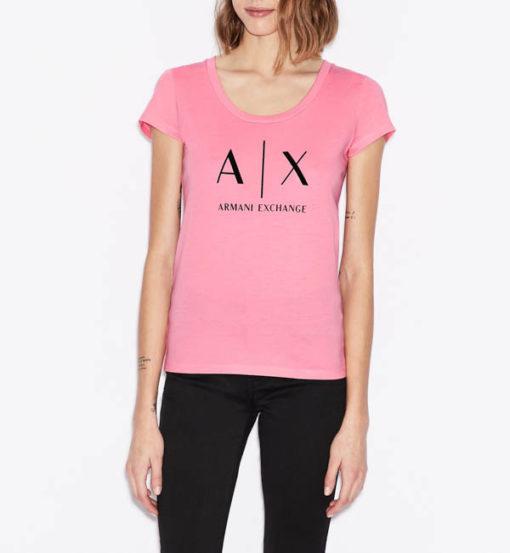 t-shirt Armani Exchange logo AX donna-1