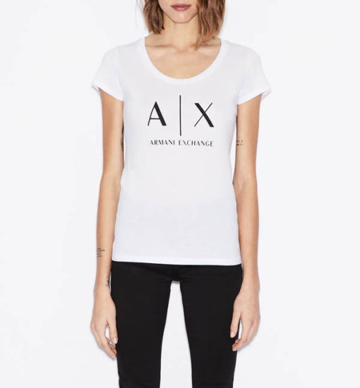 t-shirt Armani Exchange logo AX donna-2