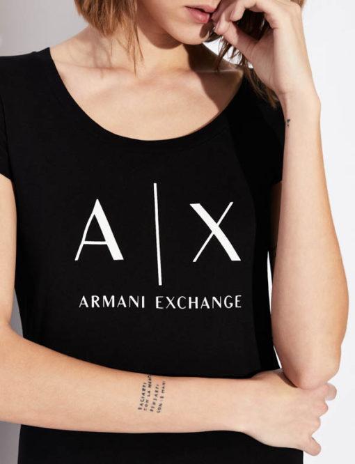 t-shirt Armani Exchange logo AX donna-3