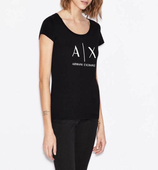 t-shirt Armani Exchange logo AX donna