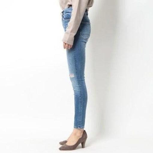 Jeans GUESS vita alta strappati-3