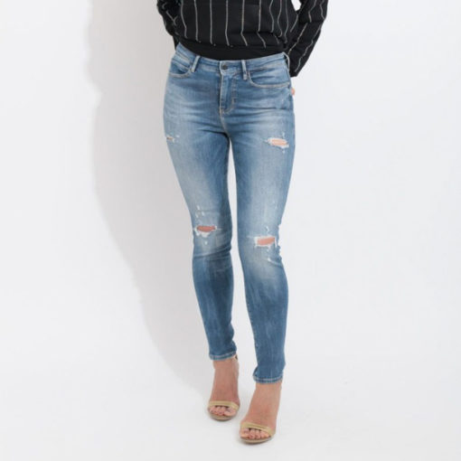 Jeans GUESS vita alta strappati-6